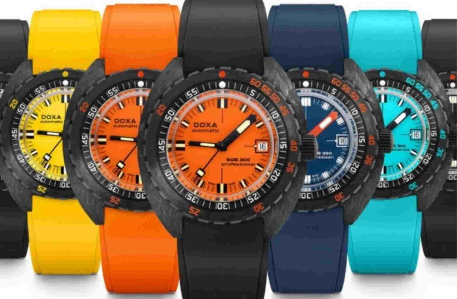 10 στιβαρά καταδυτικά ρολόγια σε απίστευτα χρώματα από την Doxa