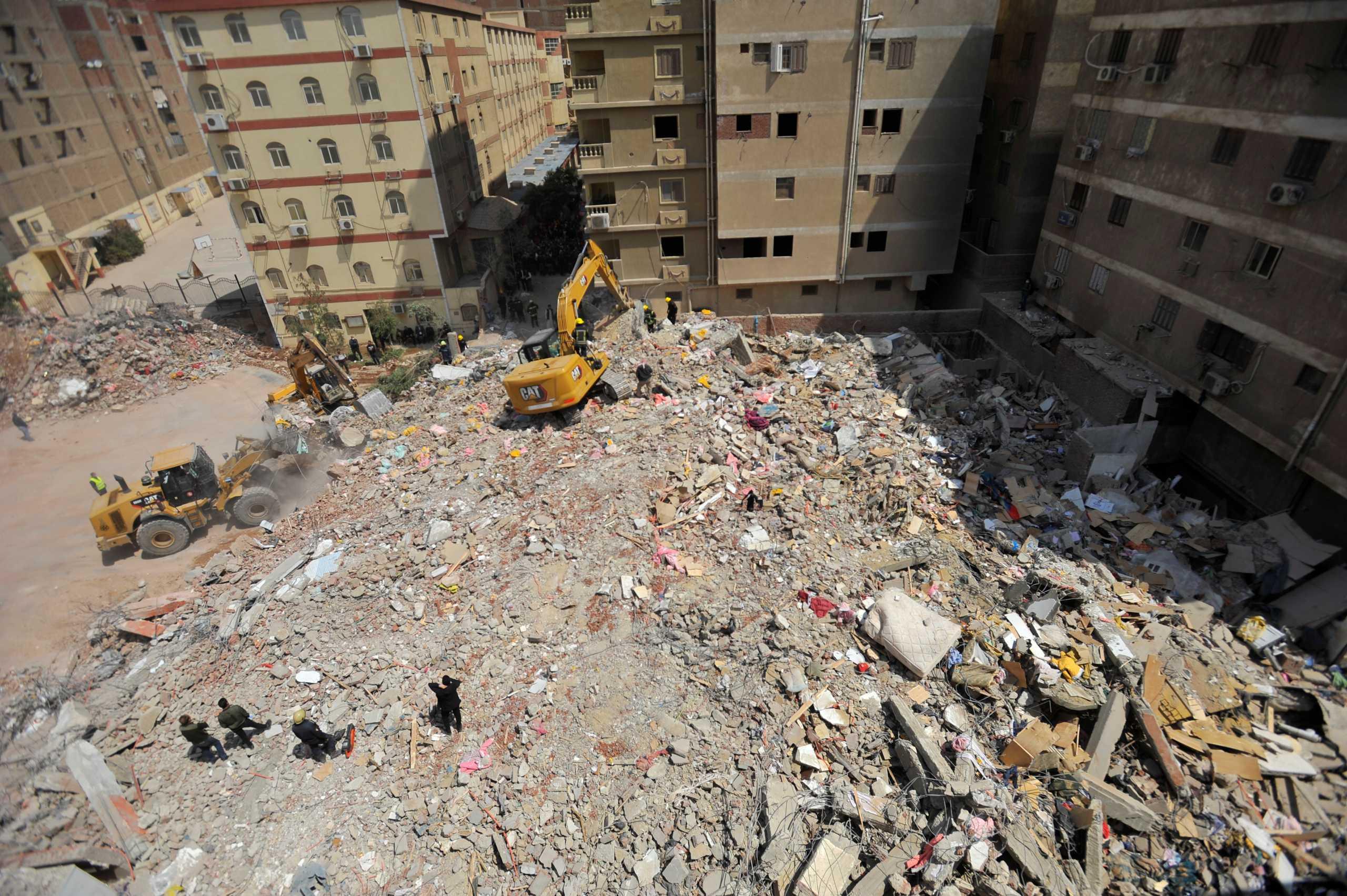 Αίγυπτος: Οκτώ οι νεκροί από την κατάρρευση δεκαώροφου κτιρίου στο Κάιρο