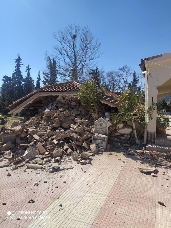 Σεισμός 6 ρίχτερ στην Ελασσόνα: Κατέρρευσε σπίτι αλλά και τοίχος σε σχολείο[photos]