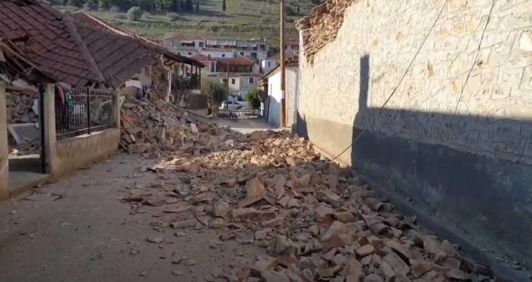Σεισμός στην Ελασσόνα: Νέες εικόνες βιβλικής καταστροφής – Τα δευτερόλεπτα του τρόμου στην κάμερα (video)