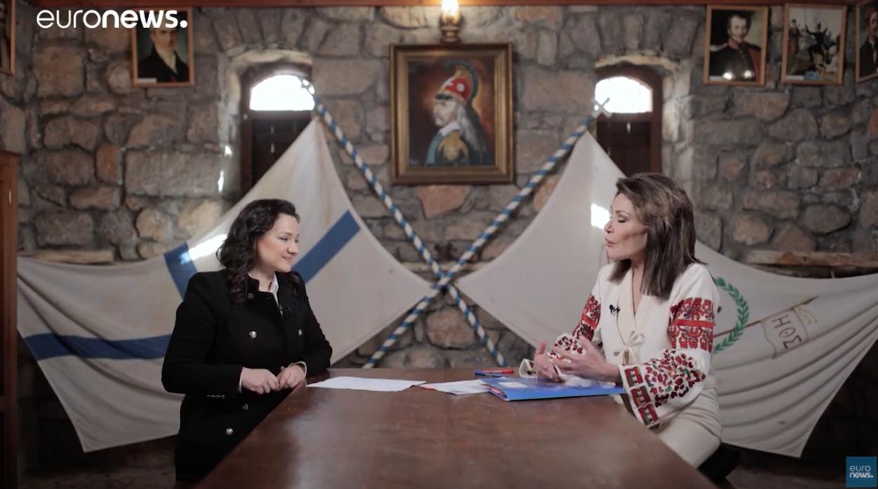 Γιάννα Αγγελοπούλου στο euronews: «Μας ενδιαφέρει η σφραγίδα που θα αφήσουμε στο μέλλον»