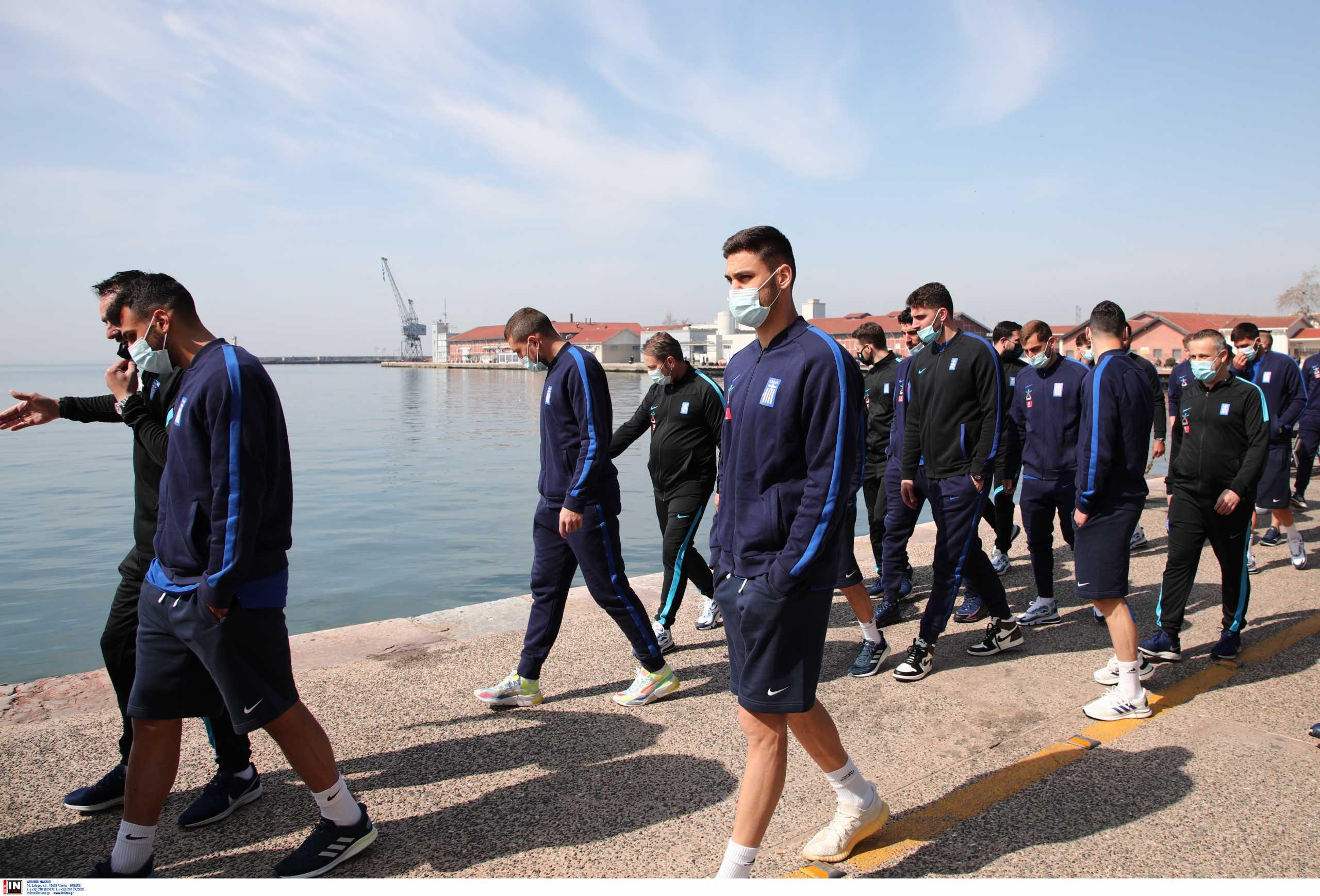 Εθνική Ελλάδας: Βόλτα στη Θεσσαλονίκη πριν το ματς για τους διεθνείς (pics)