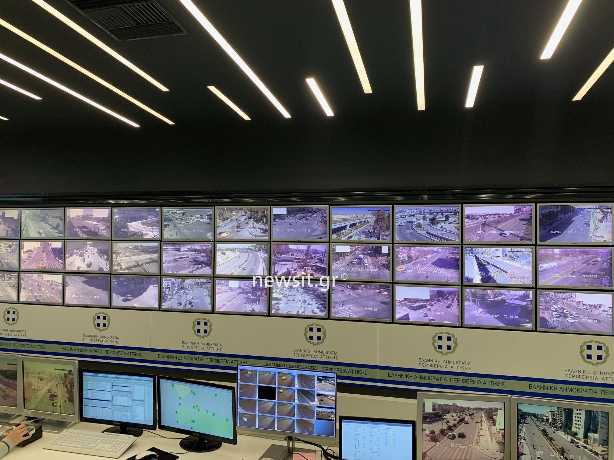 Τo newsit.gr στο Κέντρο Διαχείρισης Κυκλοφορίας – Τι έδειξαν οι κάμερες στους δρόμους της Αττικής