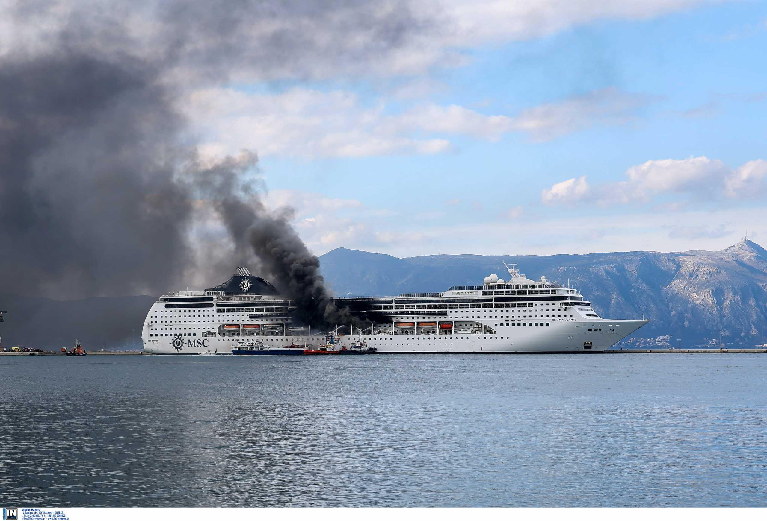 Κέρκυρα: Υπό μερικό έλεγχο η φωτιά στο κρουαζιερόπλοιο – Φόβος για κρυφές εστίες
