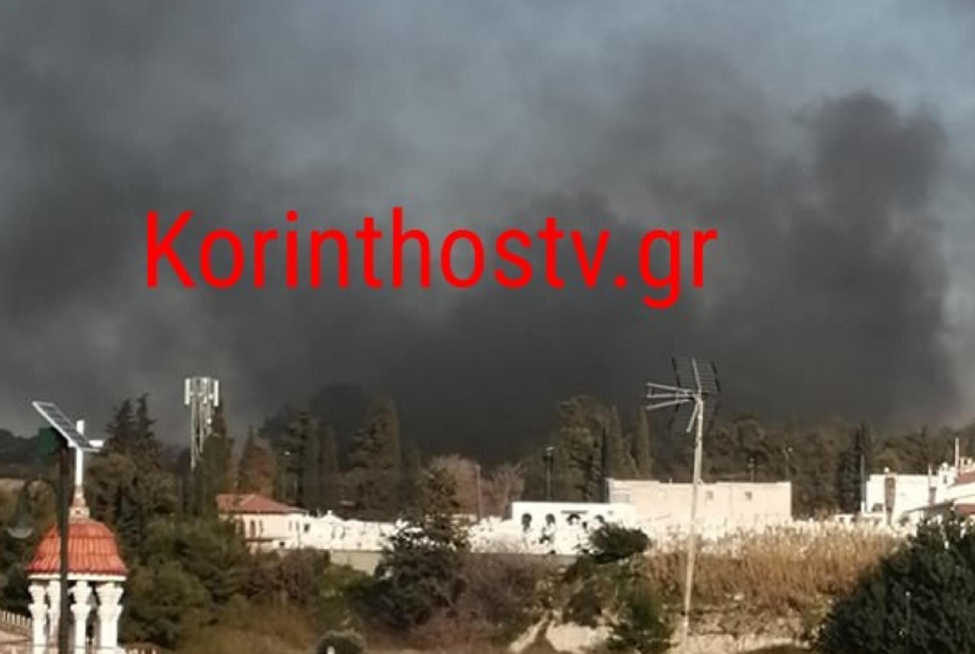 Κόρινθος: Εξέγερση μεταναστών με φωτιές και πετροπόλεμο – Πεδίο μάχης το σημείο (video)