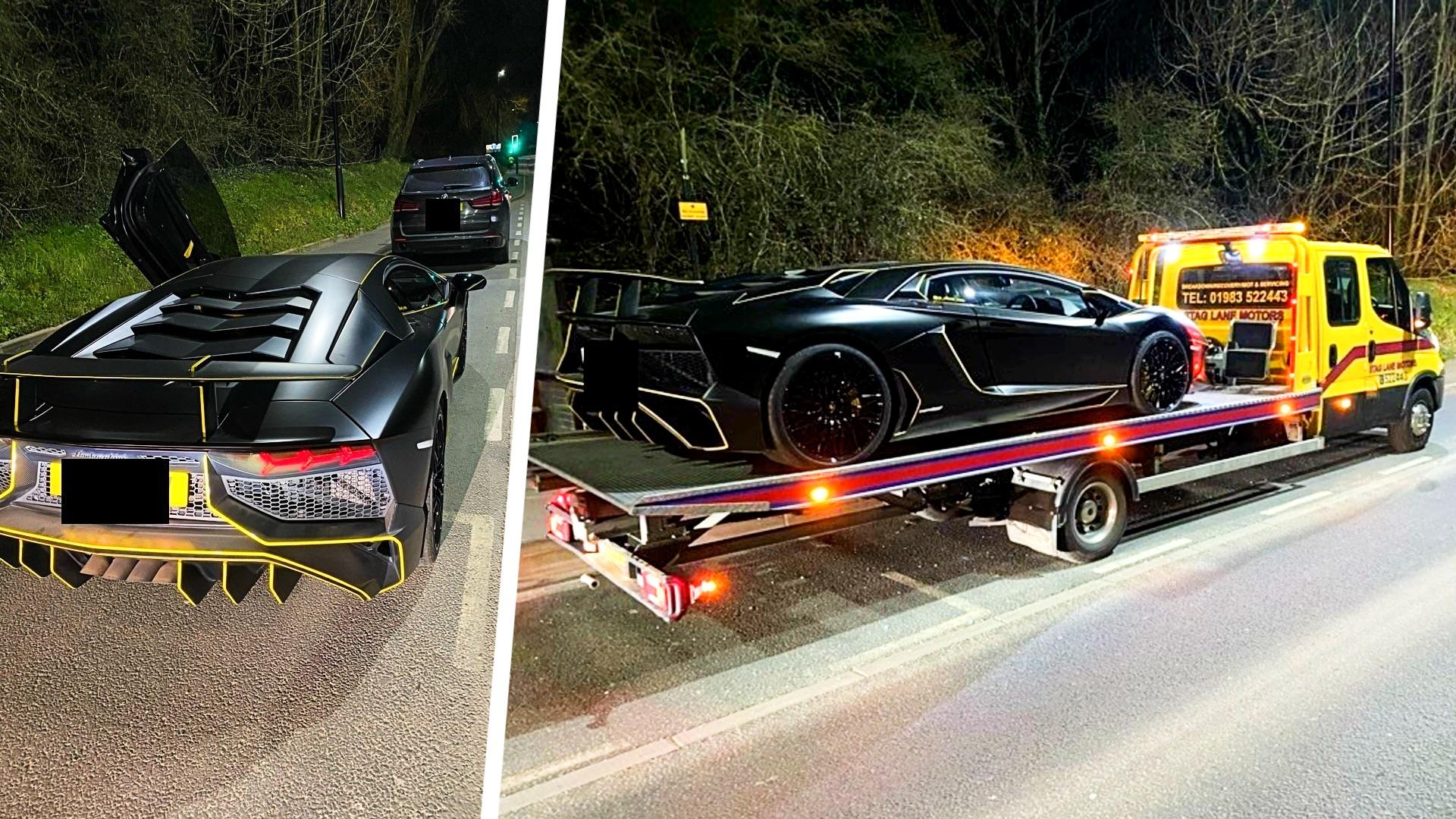 Τι παθαίνεις όταν κυκλοφορείς με Lamborghini αλλά τσιγκουνεύεσαι τα τέλη κυκλοφορίας; [pics]