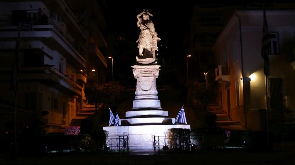 Λαμία: Φωτεινός ο Αθανάσιος Διάκος για τα 200 χρόνια της Επανάστασης