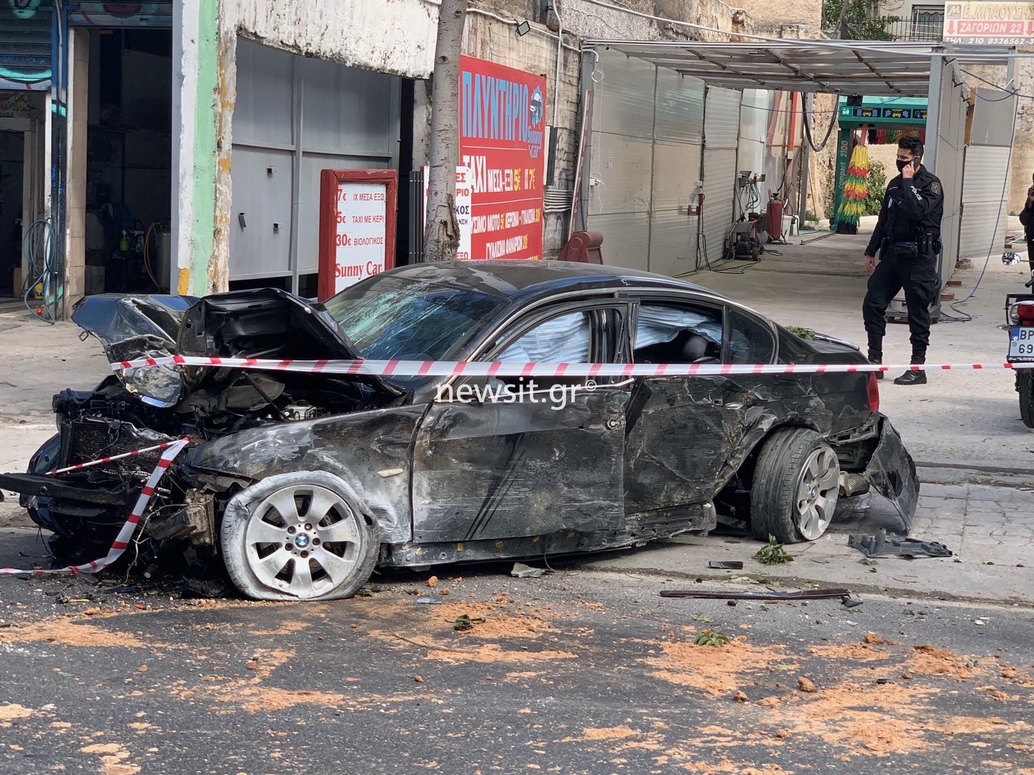 Λιοσίων: Όχημα ξέφυγε από την πορεία του μετά από καταδίωξη