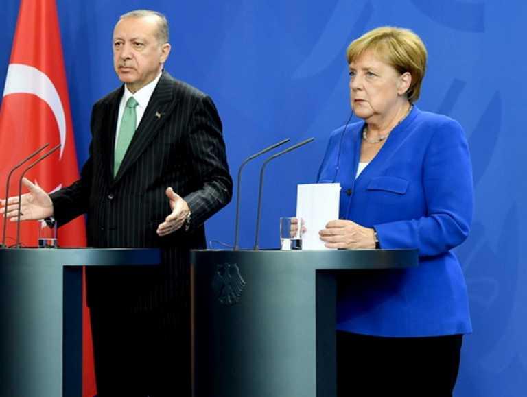 Σαφές «μήνυμα» Μέρκελ σε Ερντογάν για την ανατολική Μεσόγειο