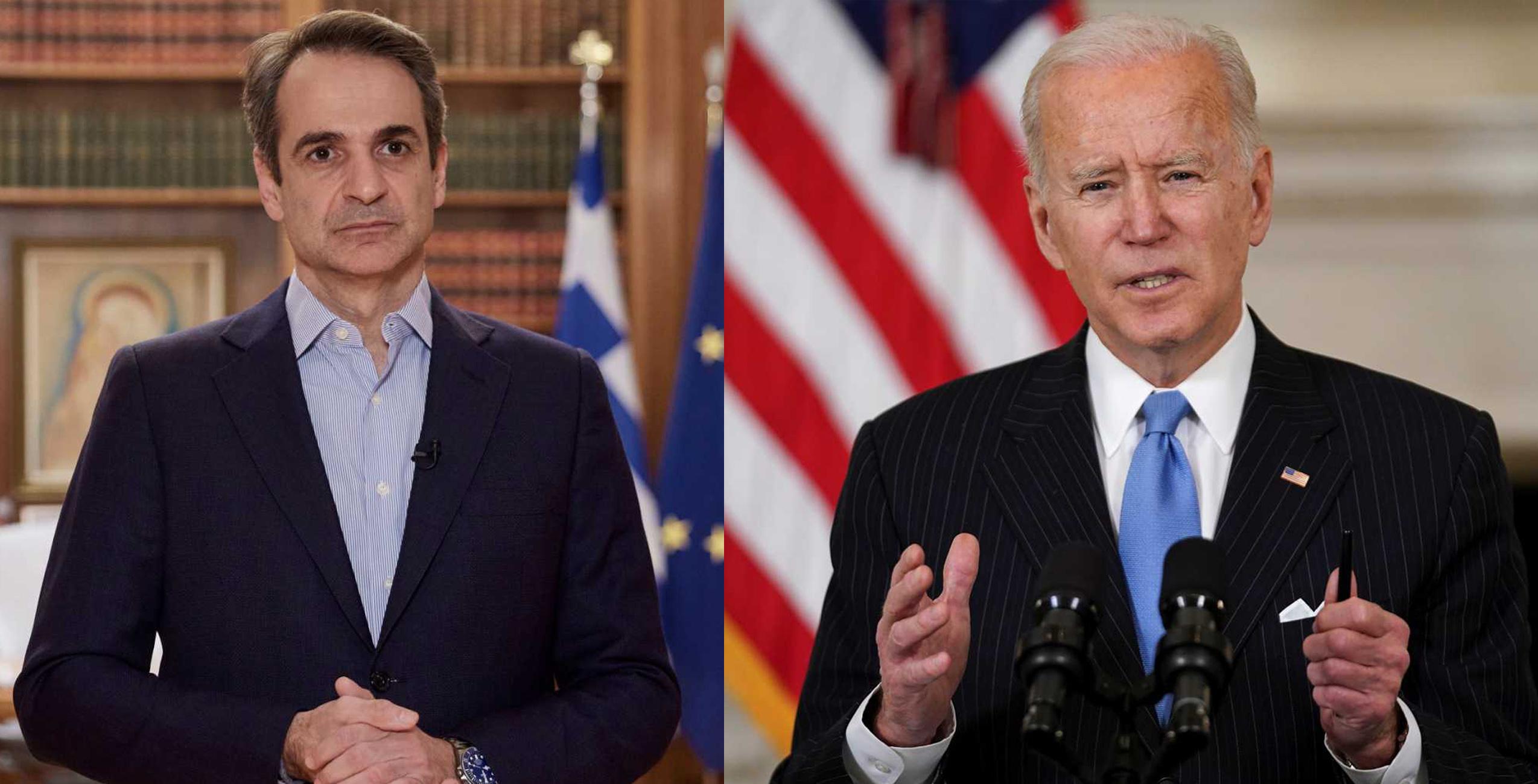 Μητσοτάκης – Μπάιντεν: Σταθερότητα στην ανατολική Μεσόγειο και εμβάθυνση των ελληνοαμερικανικών σχέσεων