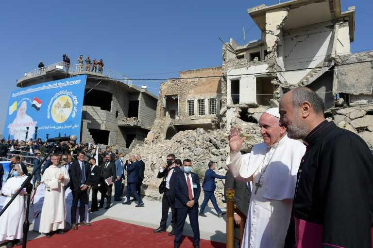 Στην Μοσούλη ο Πάπας – «Δεν μας επιτρέπεται να σκοτώνουμε τους αδελφούς μας» (pics)