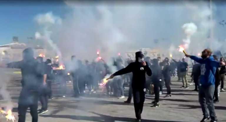 Υποδοχή ηρώων με καπνογόνα στα Γιάννινα (video)
