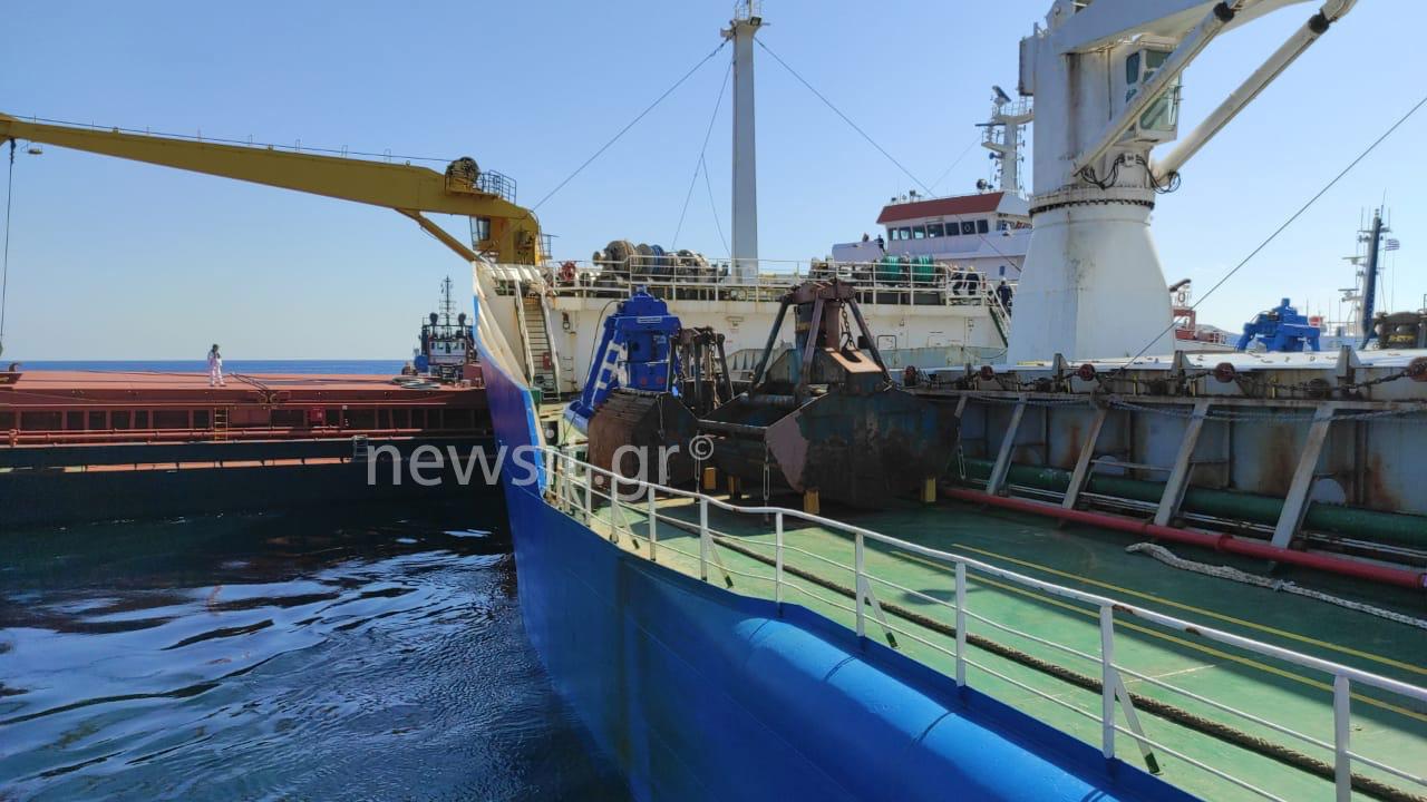 Κύθηρα: Πως έγινε η αποκόλληση στα πλοία που συγκρούστηκαν