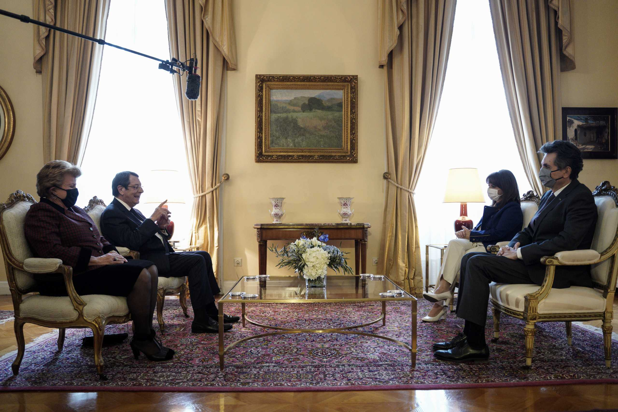 Σακελλαροπούλου σε Αναστασιάδη: Η Ελλάδα θα στηρίζει πάντοτε τα δίκαια του Κυπριακού Ελληνισμού
