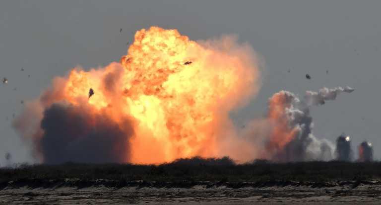 Εξερράγη και ο τρίτος πύραυλος «Starship» του Έλον Μασκ (video)