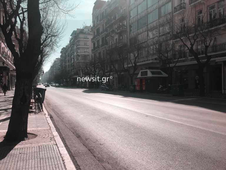 Θεσσαλονίκη – Κορονοϊός: Εικόνες… Δεκαπενταύγουστου στο κέντρο – Άδειες πλατείες και έρημοι δρόμοι (pics)