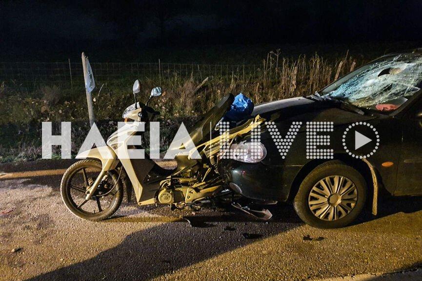 Ηλεία: Αυτοκίνητο «θέρισε» οδηγό μηχανής – Σκοτώθηκε σε τροχαίο χωρίς να κάνει το παραμικρό λάθος (pics)