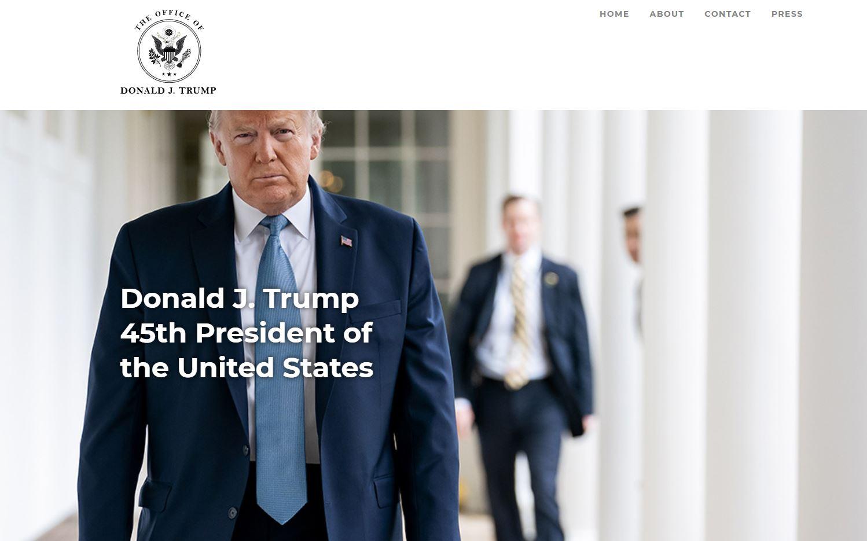 Ο Ντόναλντ Τραμπ εγκαινίασε το καινούργιο του site και προμοτάρει το «έργο» του ως πρόεδρος (pics)