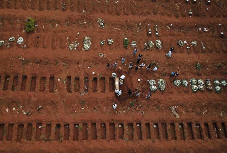 Βραζιλία: 1.987 νεκροί και 34.515 κρούσματα την τελευταία μέρα