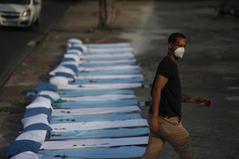 Βραζιλία: Νέο σοκ με 3.829 θανάτους και 92.625 κρούσματα κορονοϊού το τελευταίο 24ωρο