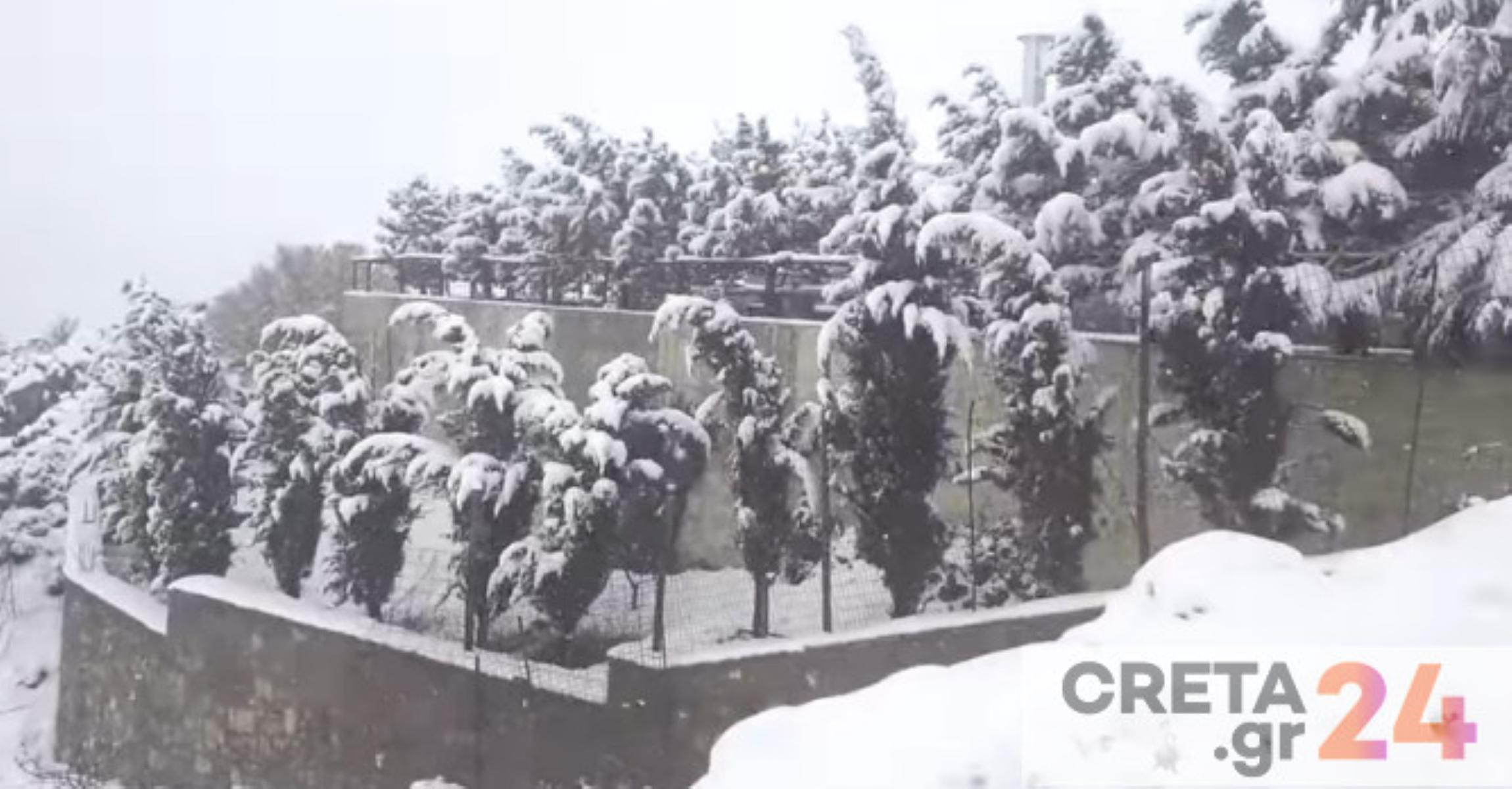 Καιρός – Κρήτη: Με χιόνια γιόρτασαν την 25η Μαρτίου (pics)