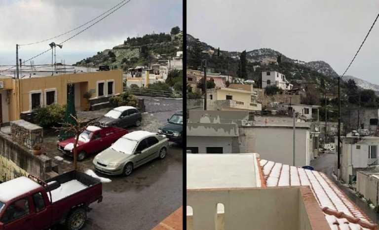 Καιρός – Κρήτη: Η Άνοιξη έφερε χιόνια – Μαγικές εικόνες