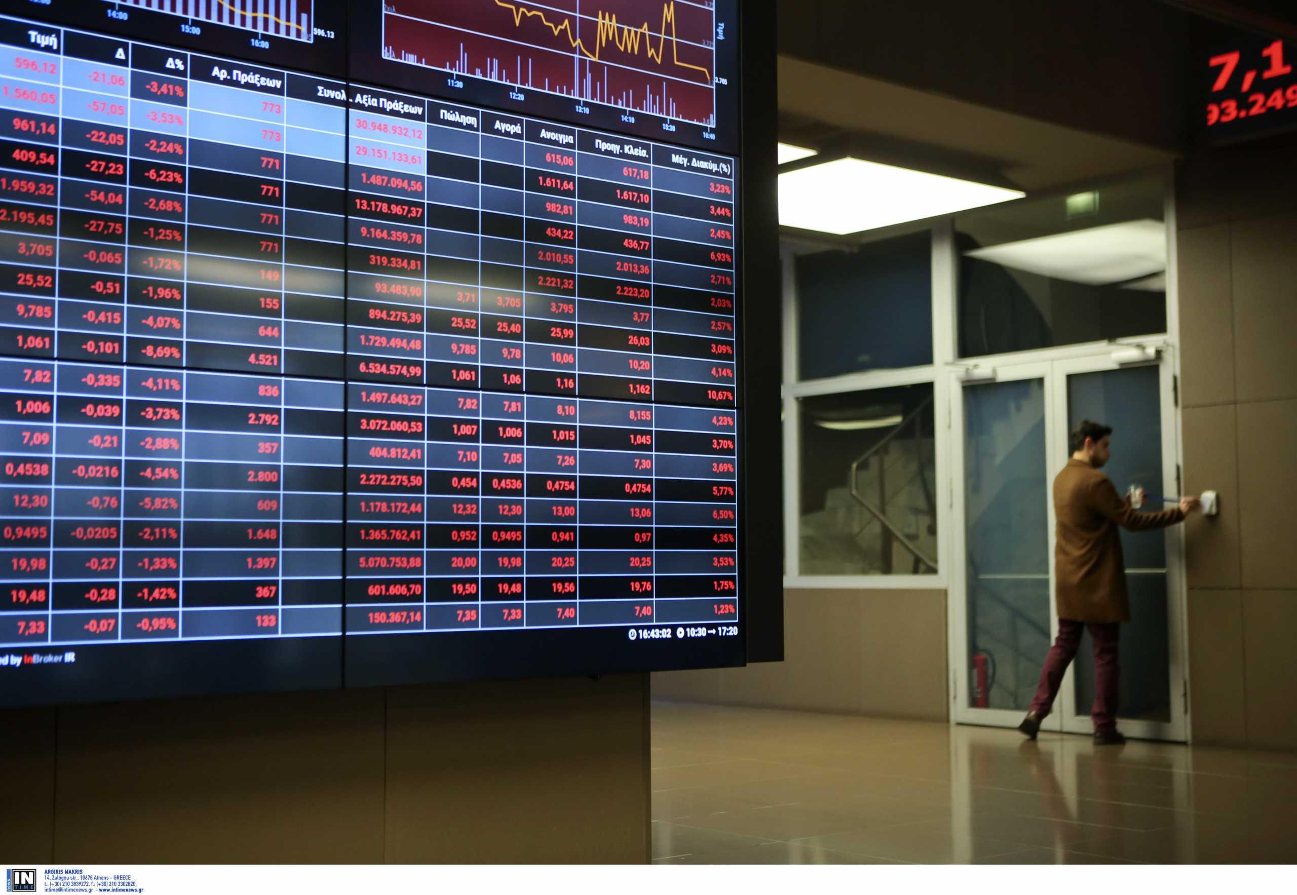 Εβδομαδιαία πτώση 1,97% στο Χρηματιστήριο Αθηνών