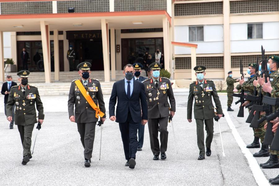 Συμμετοχή ΥΕΘΑ στην αλλαγή διοίκησης 1ης Στρατιάς – Τι συζήτησε με τον Περιφερειάρχη Θεσσαλίας