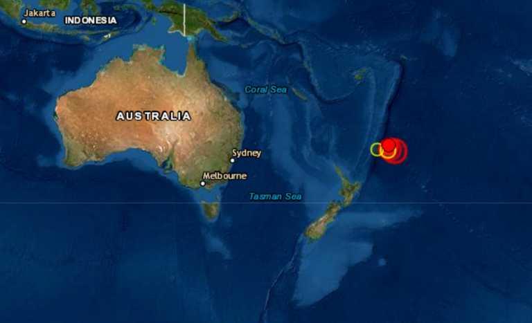 Σεισμός 7,9 Ρίχτερ στην Νέα Ζηλανδία