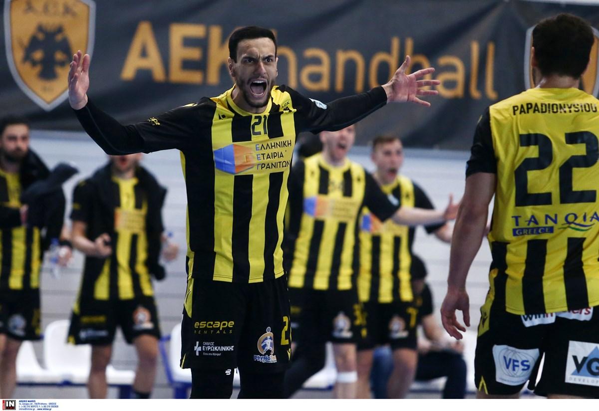 Πρώτο βήμα για ευρωπαϊκό τελικό η ΑΕΚ στο χάντμπολ