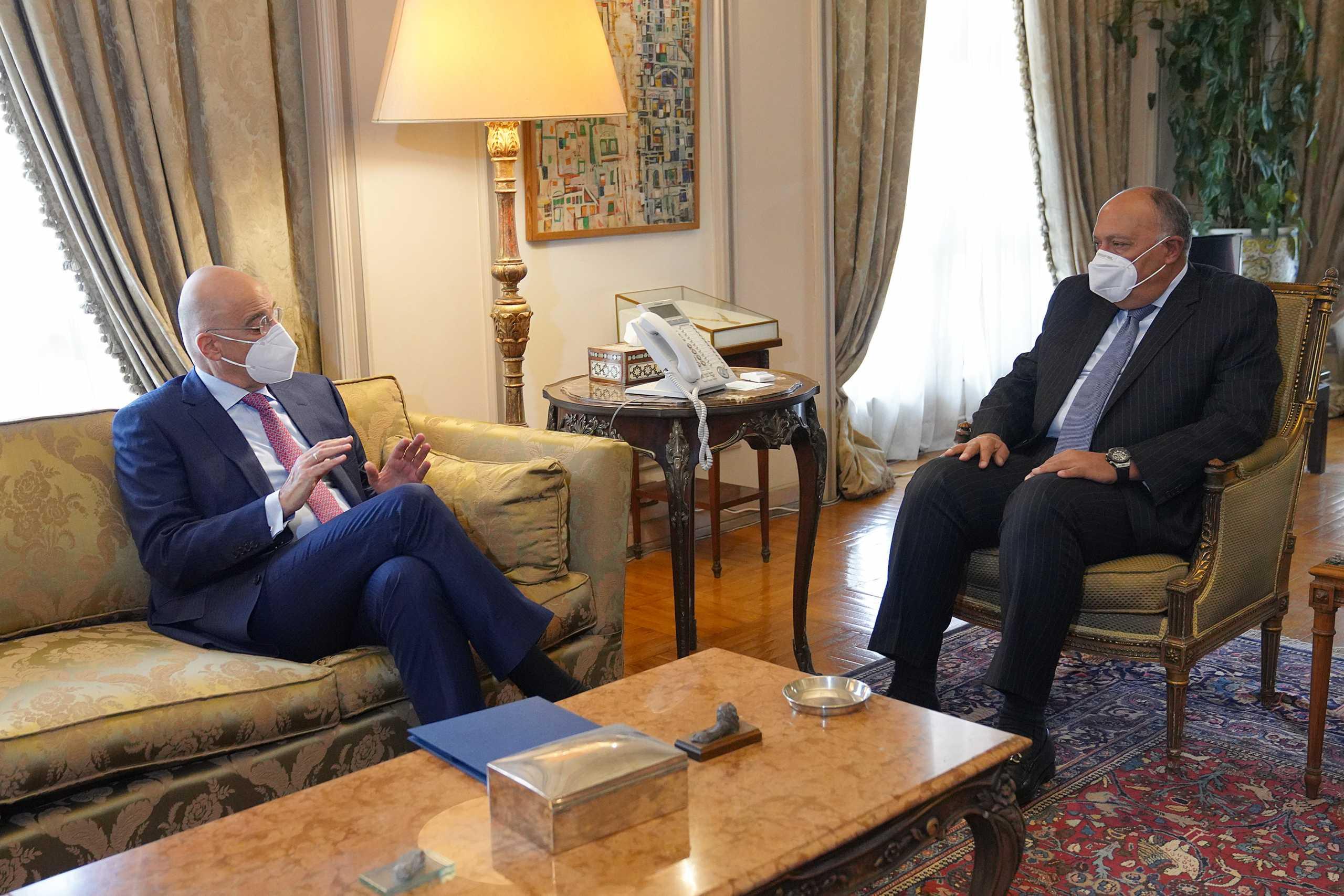 Η Ανατολική Μεσόγειος στο επίκεντρο της συνάντησης των ΥΠΕΞ Ελλάδας και Αιγύπτου