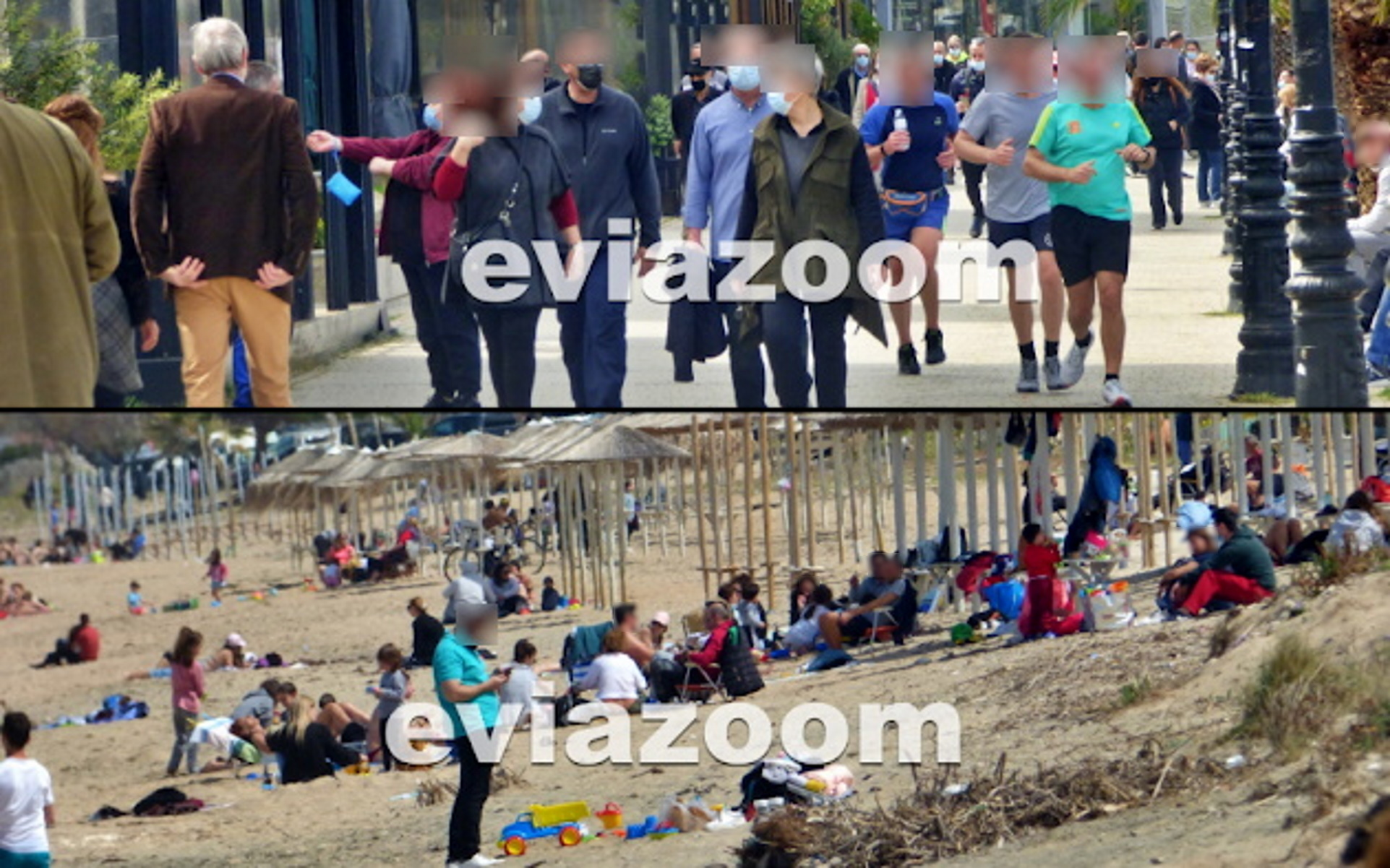 Εύβοια: Lockdown στα «χαρτιά» – Κοσμοπλημμύρα σε παραλία Χαλκίδας και Αλυκές Δροσιάς (pics, vid)