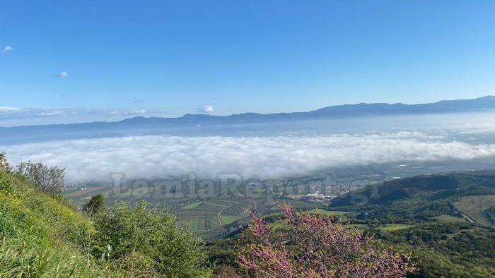 Φθιώτιδα: Πάνω από τα σύννεφα – Οι εικόνες που είδαν στο ξεκίνημα για τη δουλειά τους (pics)