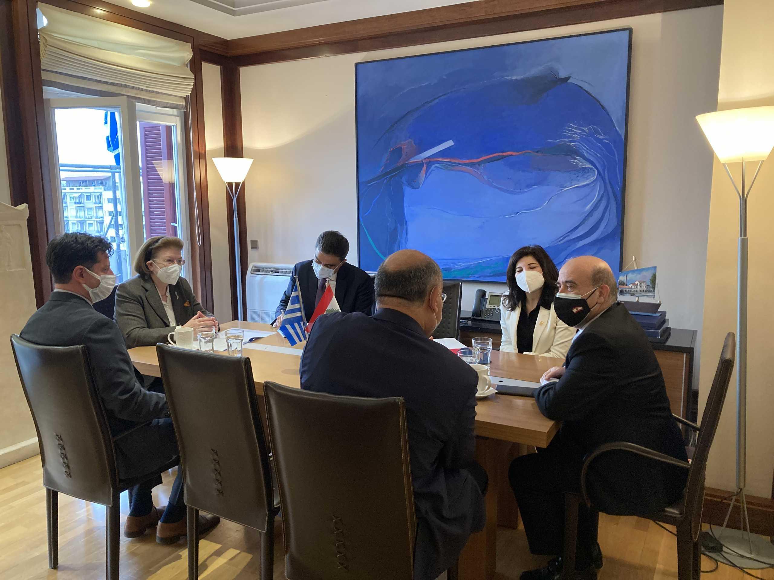Μενδώνη: Η Ελλάδα είναι απολύτως θετική σε οποιαδήποτε πολιτιστική συνεργασία με το Λίβανο
