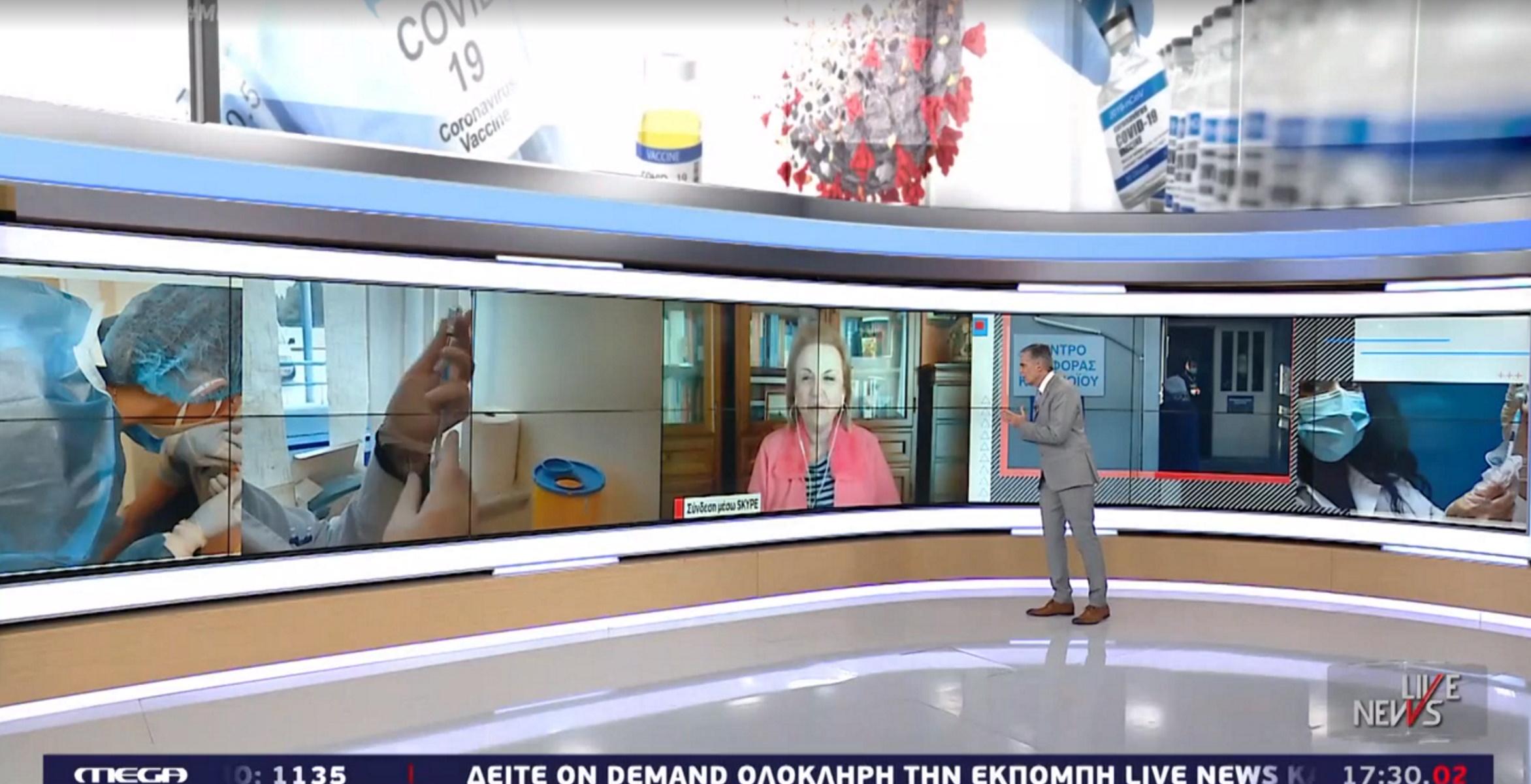 Παγώνη στο Live News για το Πάσχα, τα self test στα Λύκεια αλλά και για το τεστ μέσω κινητού (video)
