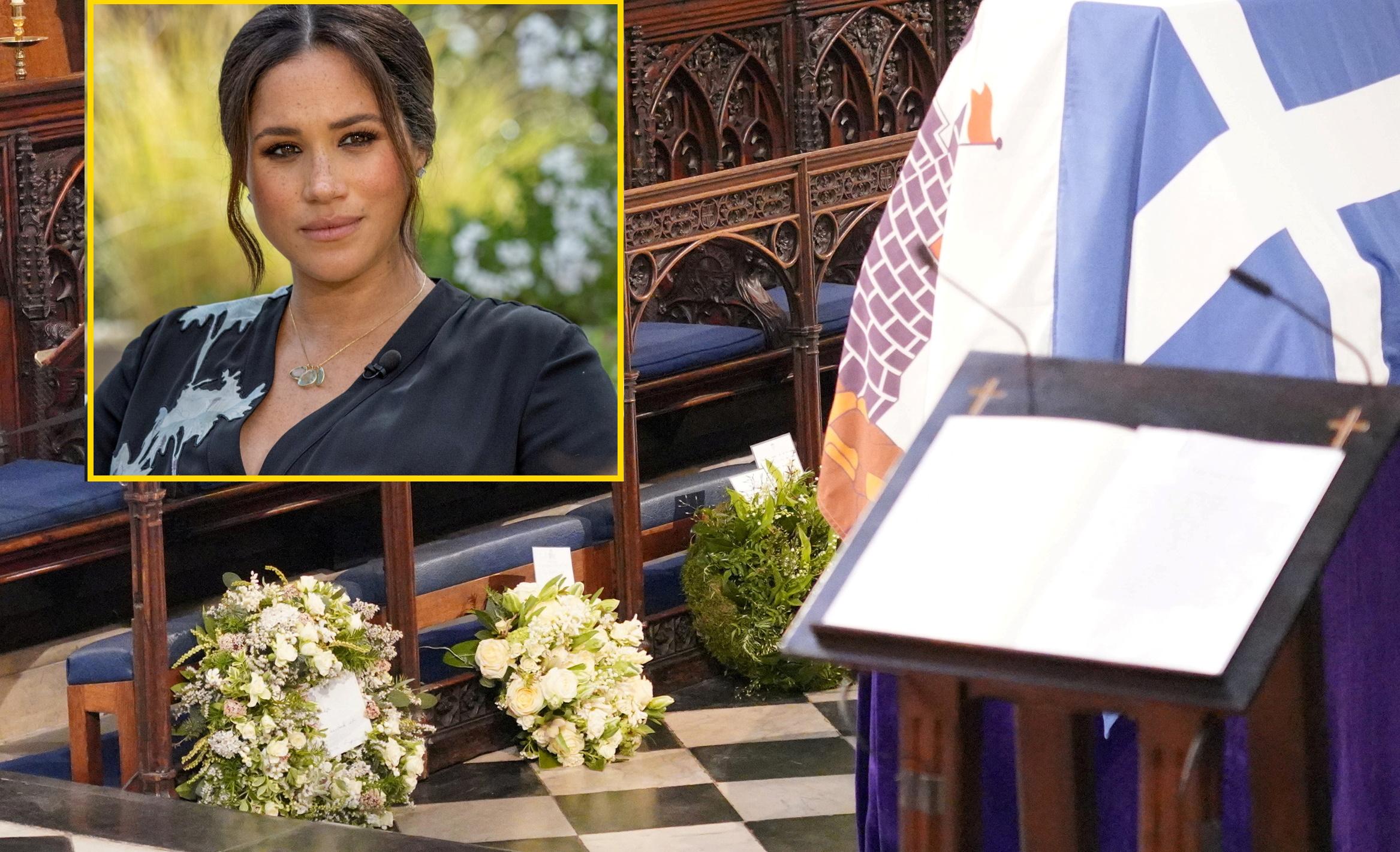 Το στεφάνι με ελληνικά φυτά και το σημείωμα της Μέγκαν στην κηδεία του πρίγκιπα Φίλιππου