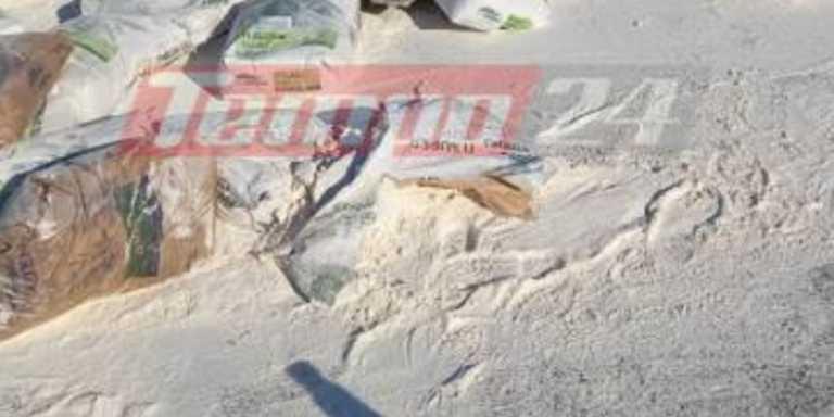 Πάτρα: Ξαφνικά ο δρόμος γέμισε αλεύρι - Κυκλοφοριακό χάος (pics)