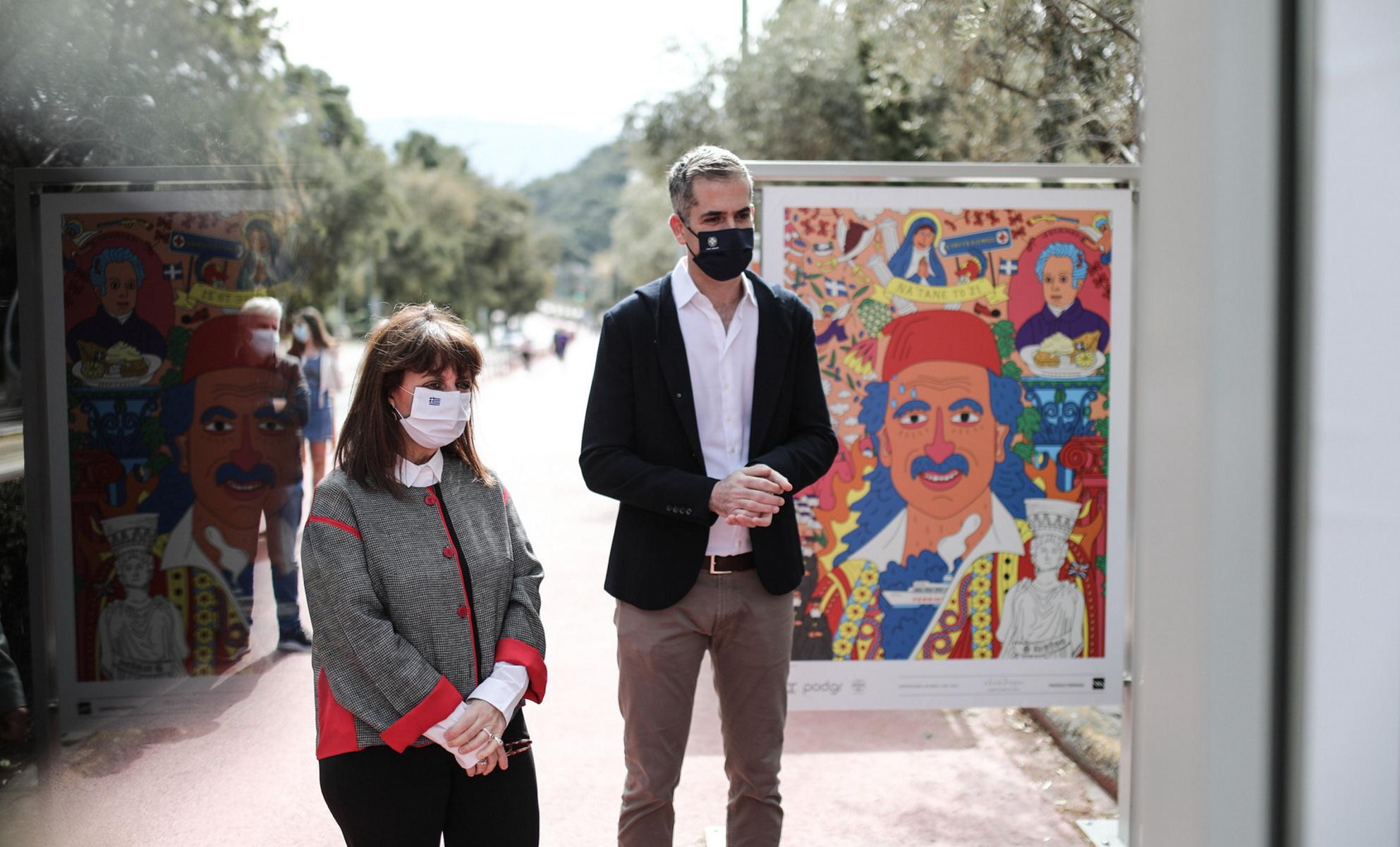 Σακελλαροπούλου: Ξεναγήθηκε από Μπακογιάνη στην έκθεση «200 χρόνια Ελλάδα» (pics)