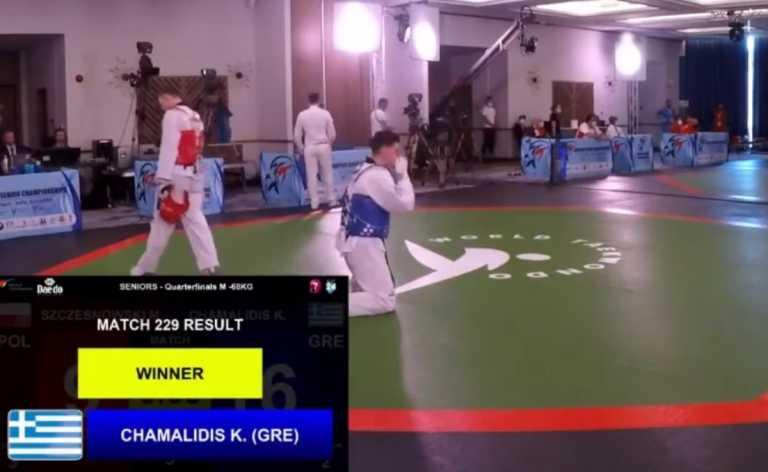 «Χάλκινος» πρωταθλητής Ευρώπης ο Κωνσταντίνος Χαμαλίδης – Γονάτισε και έκανε τον σταυρό του (video)