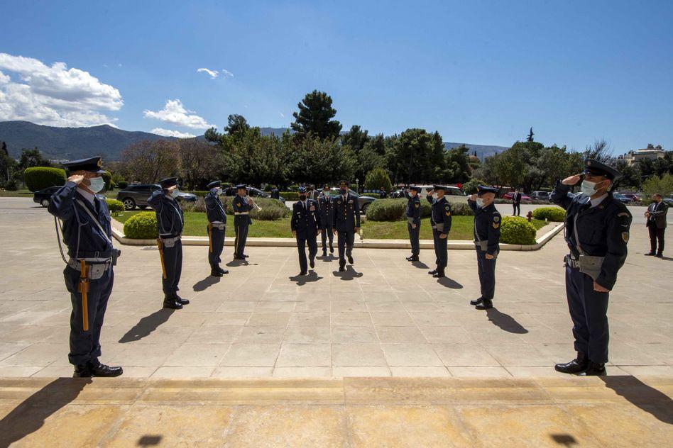 Πολεμική Αεροπορία: Συνάντηση του Αντιπτεράρχου Μπλιούμη με τον Διοικητή της USAFE