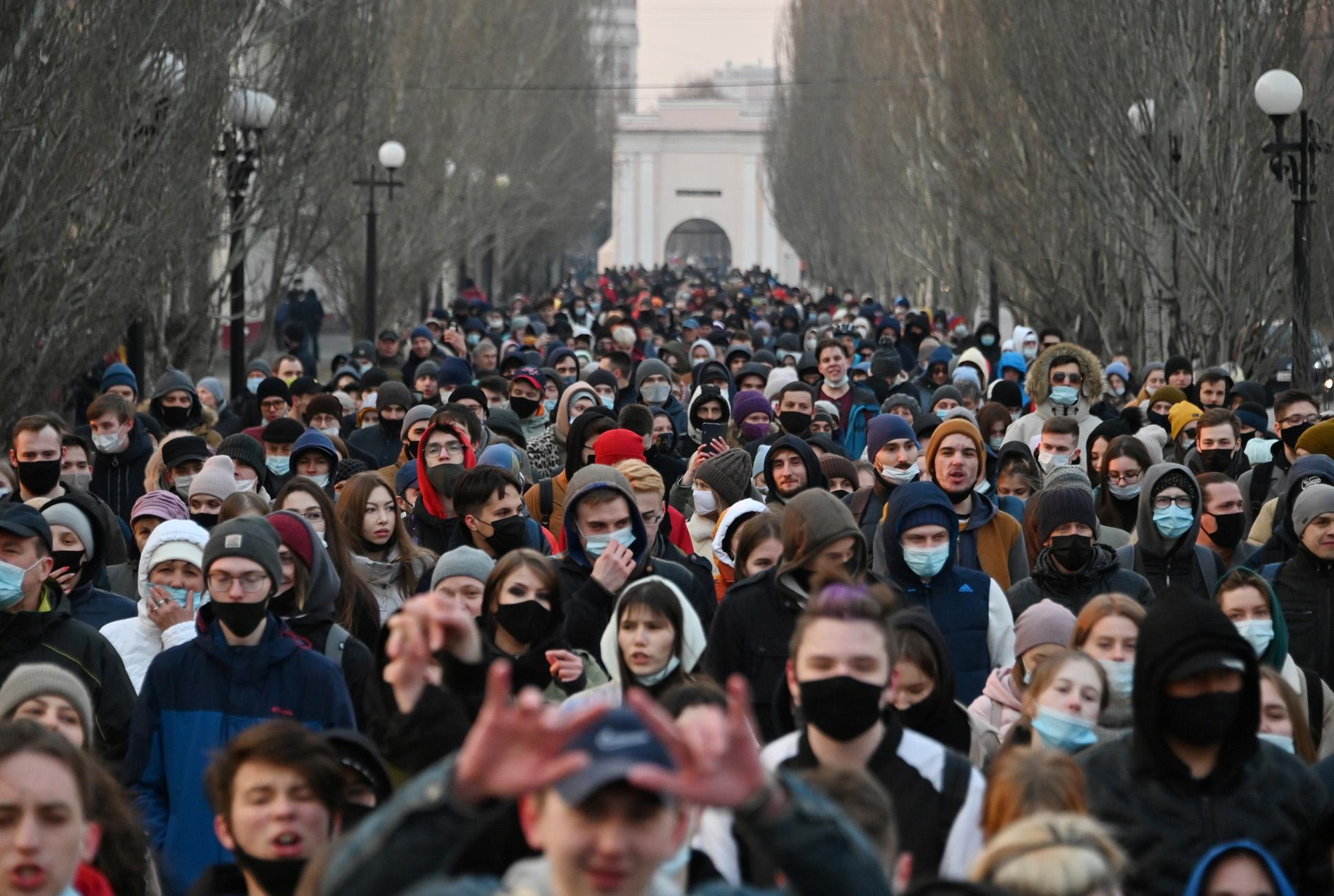 Ναβάλνι: 182 συλλήψεις στις διαδηλώσεις για την αποφυλάκισή του