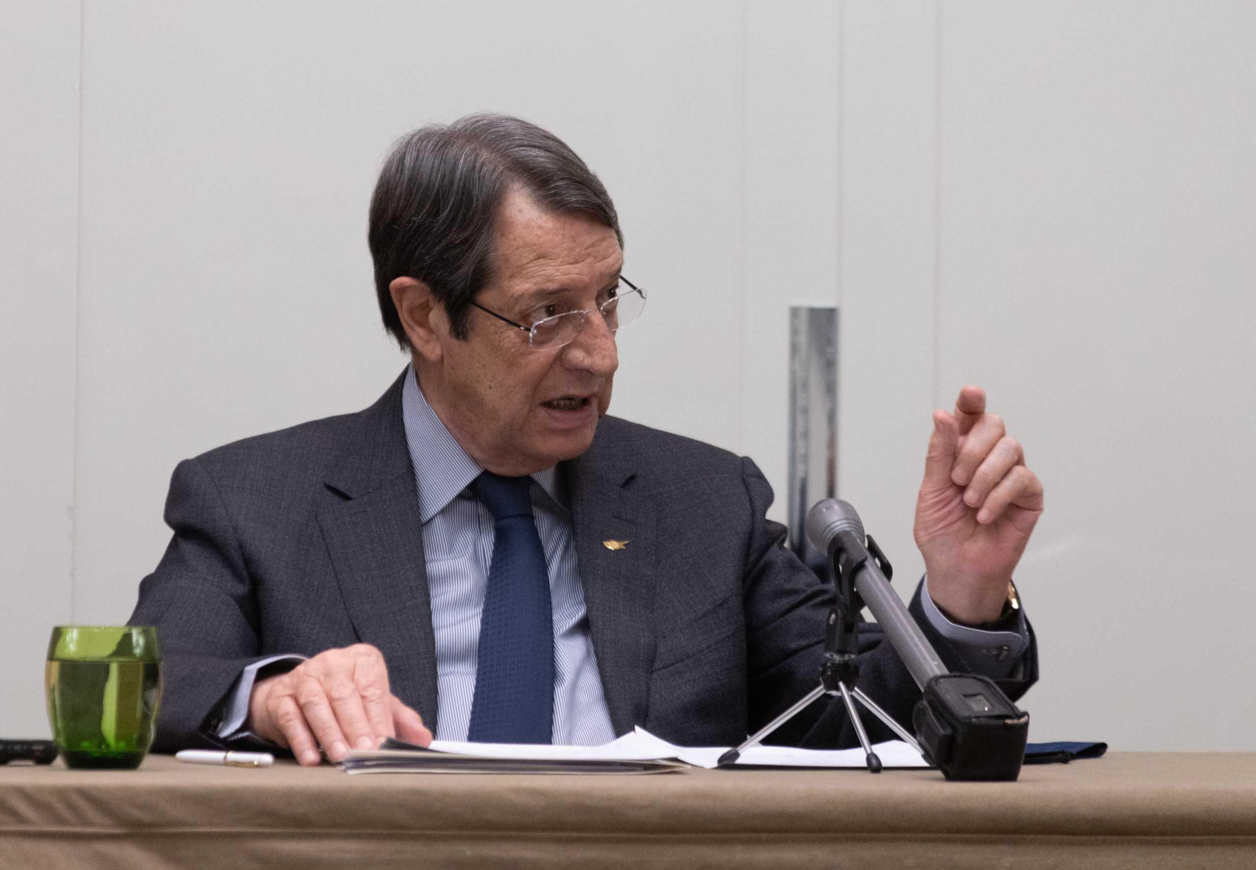 Αναστασιάδης: Να αποφευχθούν οποιαδήποτε νέα τετελεσμένα στο Κυπριακό