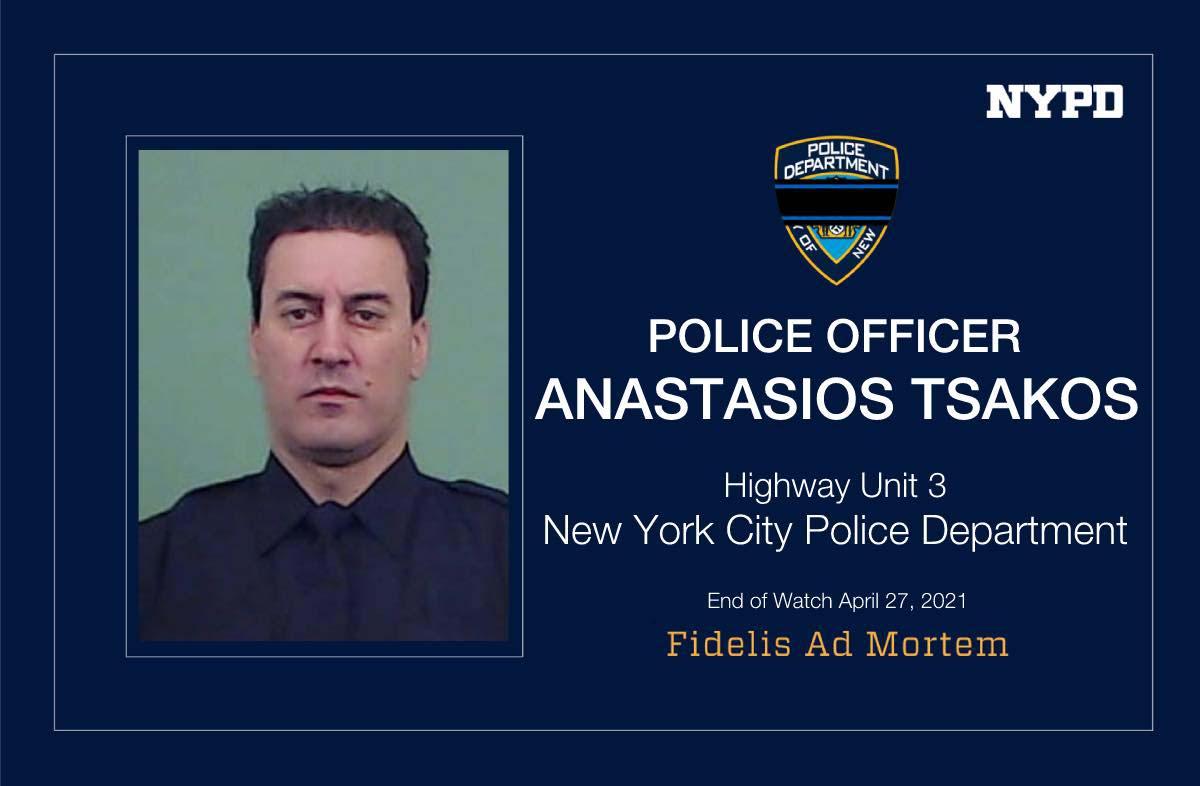 Νέα Υόρκη: Με τιμές ήρωα το «τελευταίο αντίο» στον άτυχο ομογενή αστυνομικό Αναστάσιο Τσάκο (pics, vid)