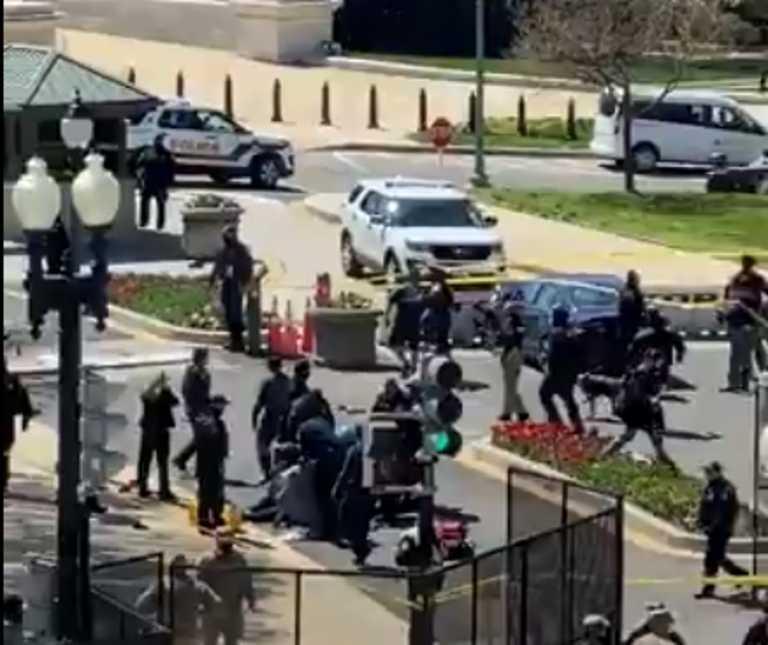 ΗΠΑ: Συναγερμός στο Καπιτώλιο! «Μπούκαρε» αυτοκίνητο και τραυμάτισε δύο αστυνομικούς - Έπεσαν πυροβολισμοί