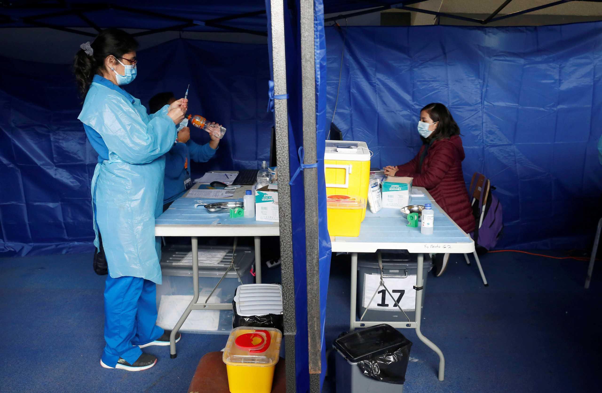 «Τρέχει» ο εμβολιασμός κατά του κορονοϊού στη Χιλή – 6,3 εκατ. έχουν κάνει και τις 2 δόσεις