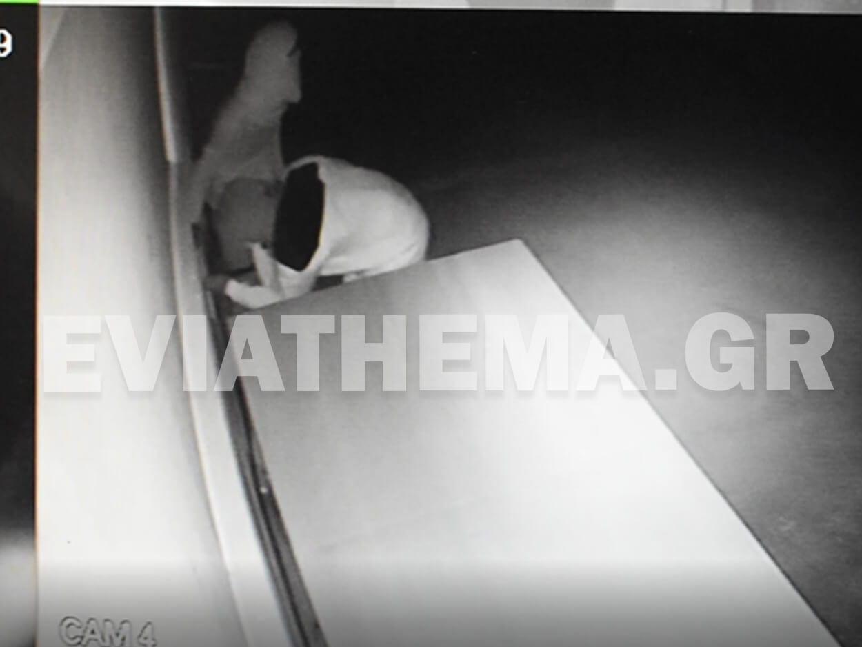 Βασιλικό Ευβοίας: Βίντεο ντοκουμέντο – Καρέ καρέ η διάρρηξη σε καφέ της περιοχής