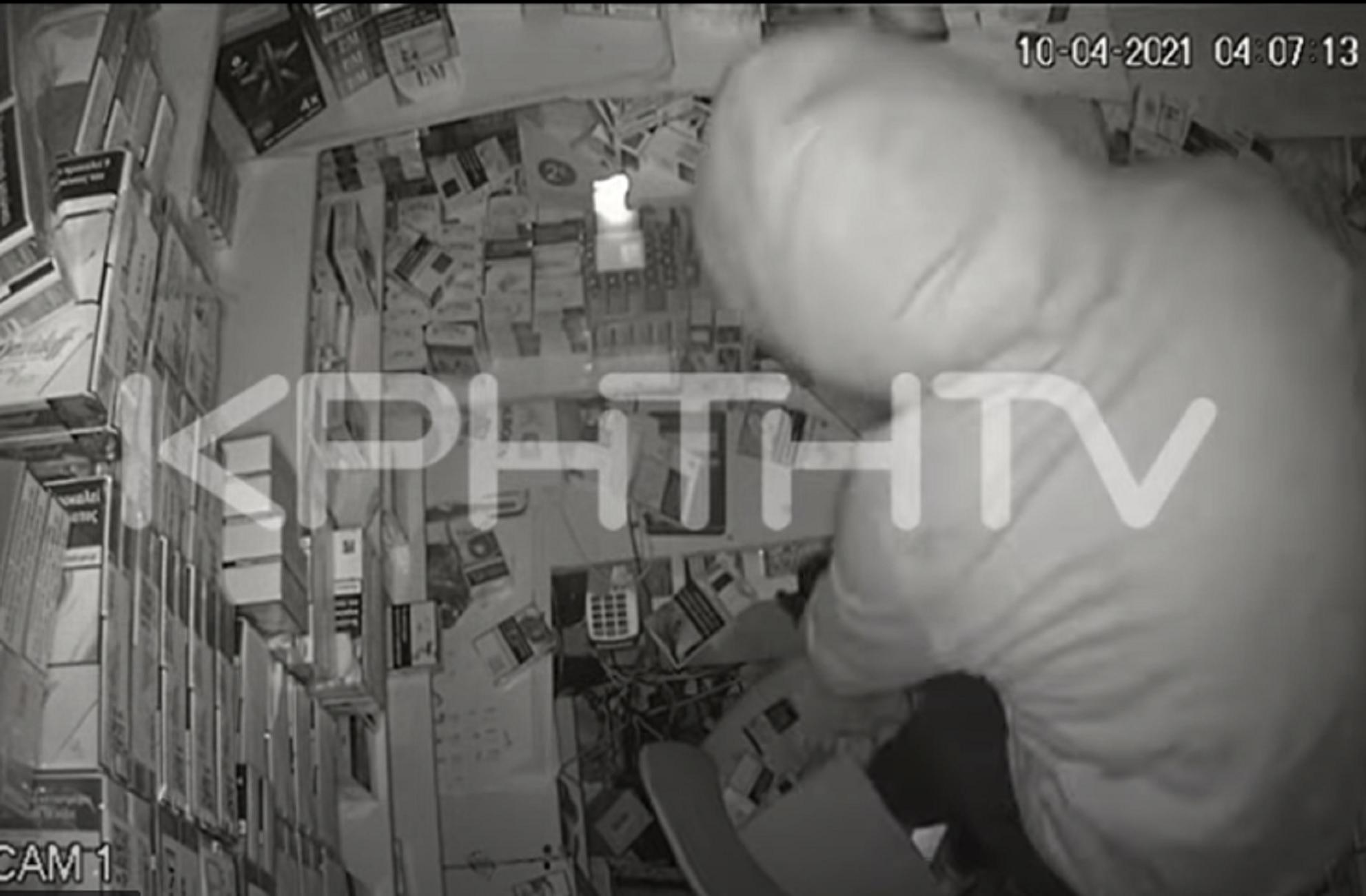 Ηράκλειο: Οι διαρρήκτες έκλεβαν επί 4 ολόκληρες ώρες – Δείτε τις απίθανες εικόνες στο βίντεο ντοκουμέντο