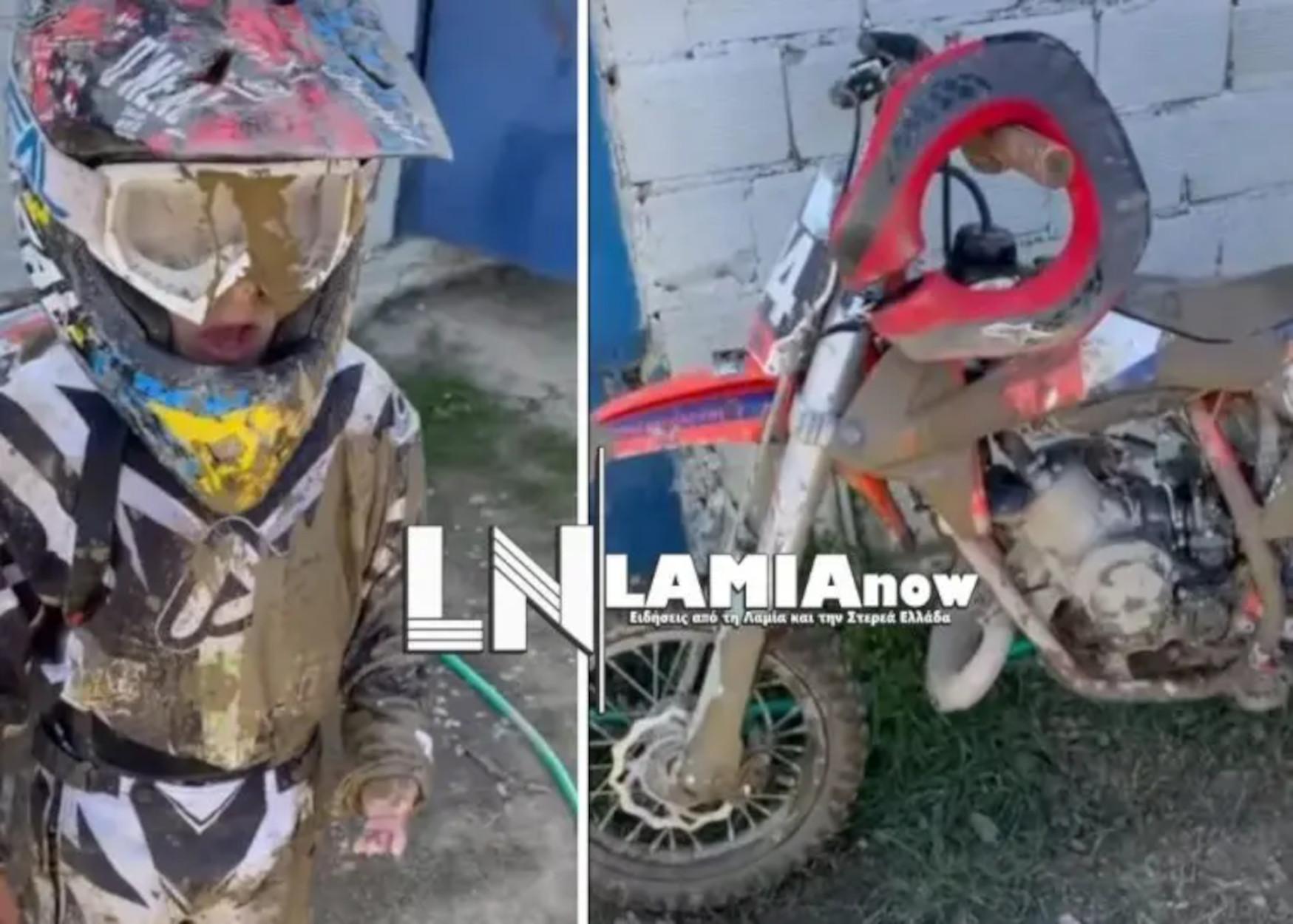 Φθιώτιδα: O 5χρονος «γίγαντας» του motocross θα σας κλέψει την καρδιά (video)