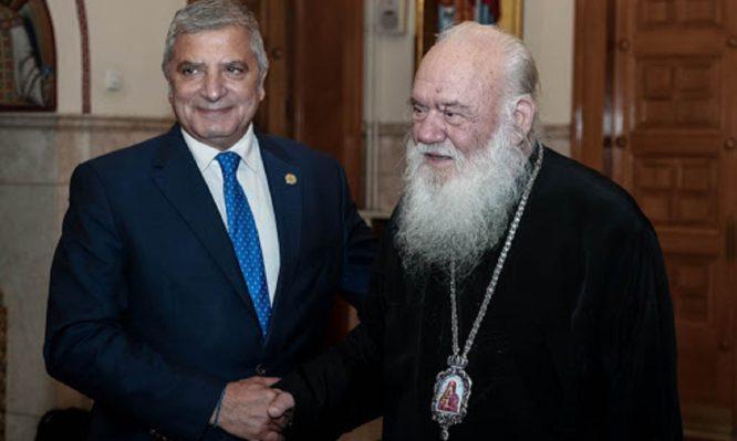 Συνάντηση Αρχιεπισκόπου – Πατούλη: Διάθεση rapid test στους Ναούς της Αρχιεπισκοπής Αθηνών