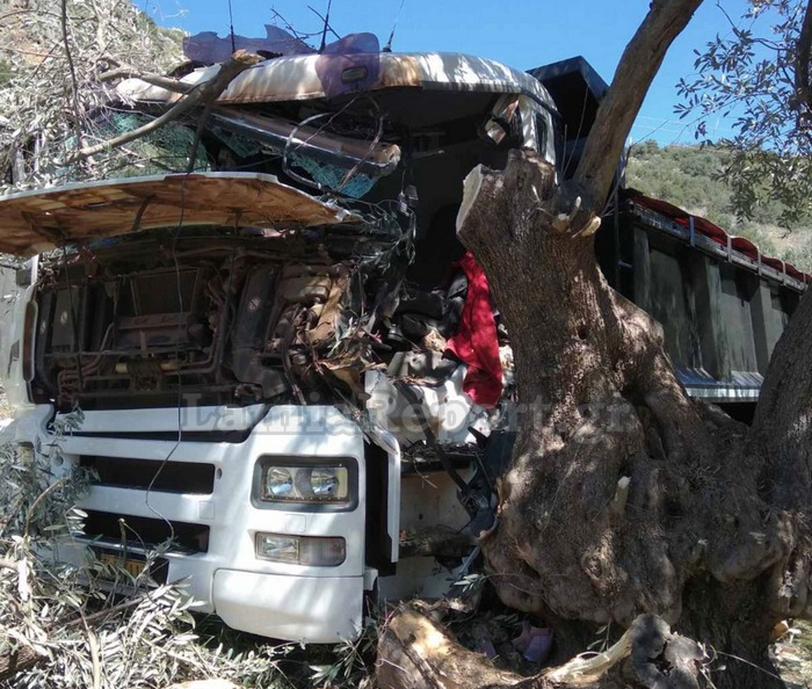 Φωκίδα: Μοιραίο τροχαίο για 31χρονο – «Καρφώθηκε» με το φορτηγό του σε ελιά